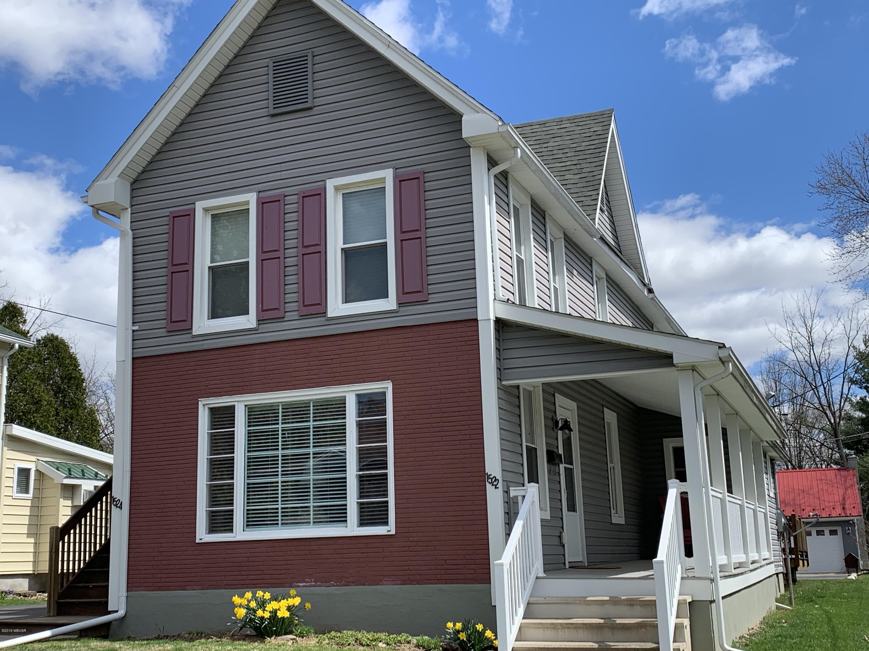 1524 ALMOND STREET,Williamsport,PA 17701,1 Bedroom Bedrooms,1 BathroomBathrooms,Resid-lease/rental,ALMOND,WB-86961