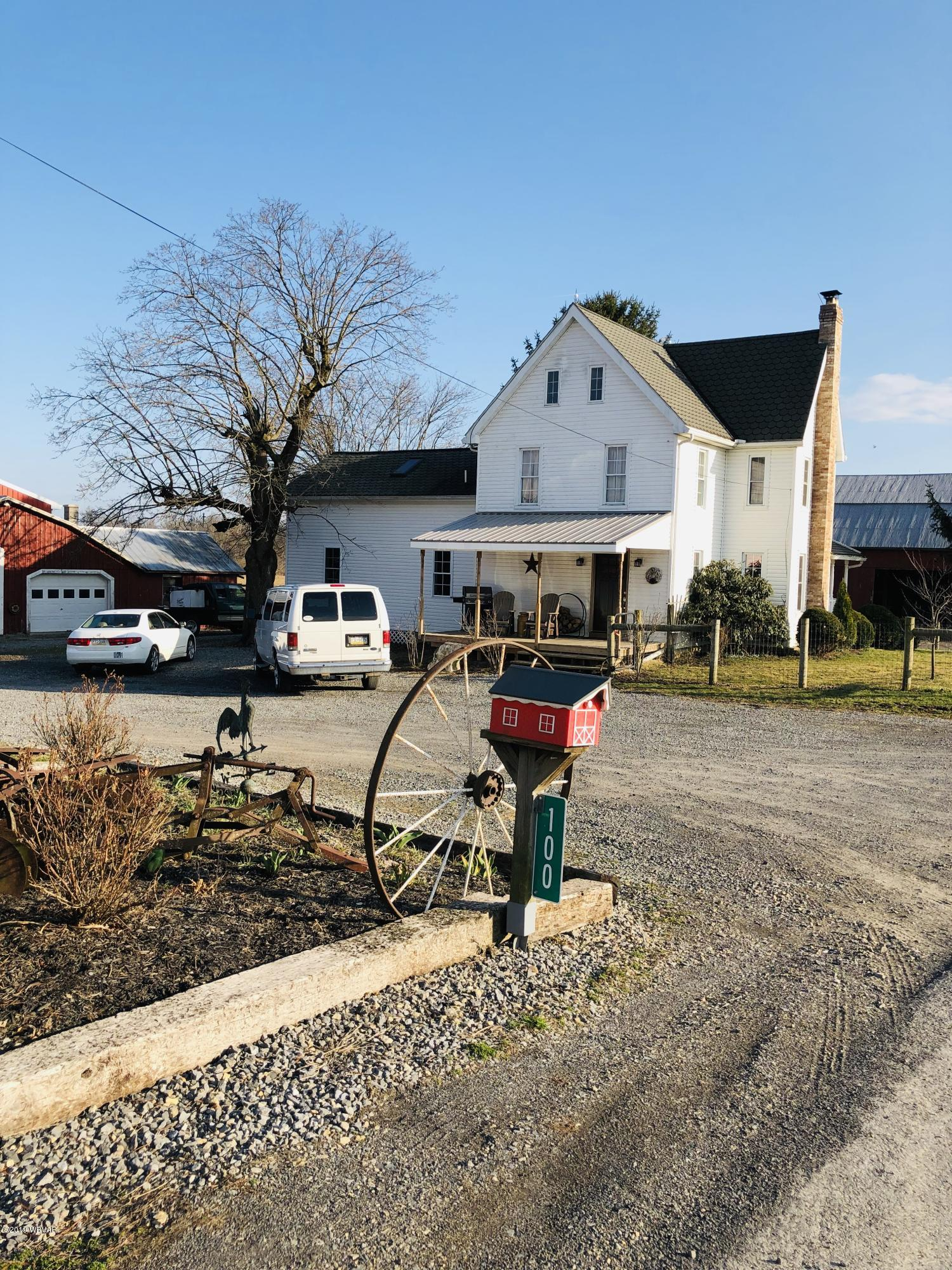 100 MILL ROAD,Turbotville,PA 17772,4 Bedrooms Bedrooms,2 BathroomsBathrooms,Farm,MILL,WB-87016