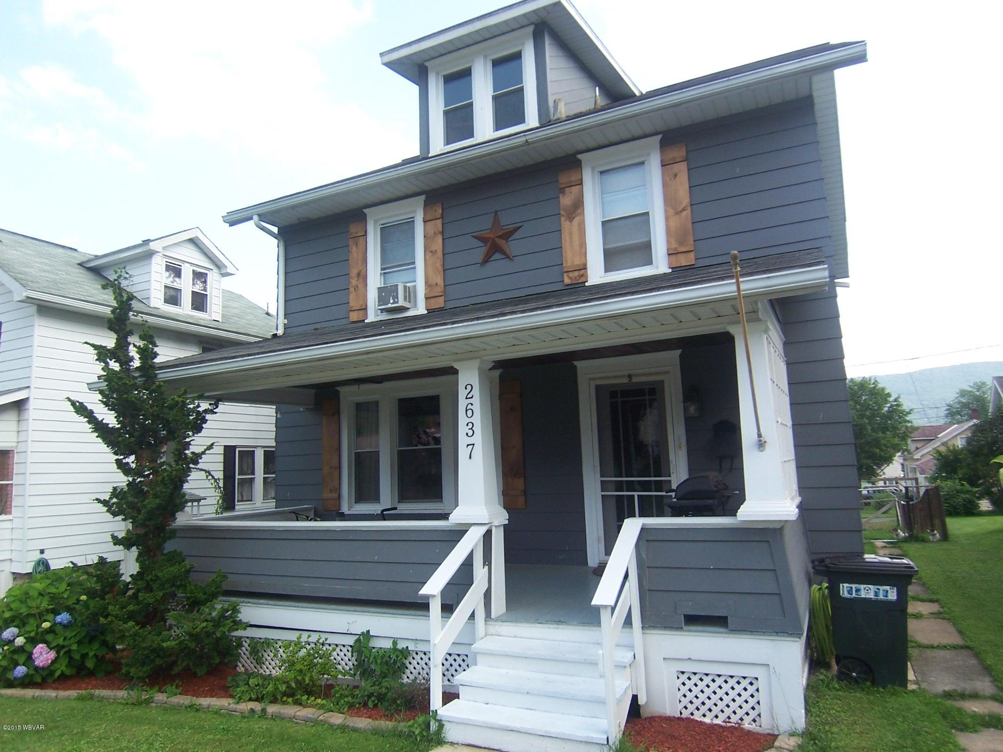 2637 NEWBERRY STREET,Williamsport,PA 17701,3 Bedrooms Bedrooms,2 BathroomsBathrooms,Residential,NEWBERRY,WB-87605