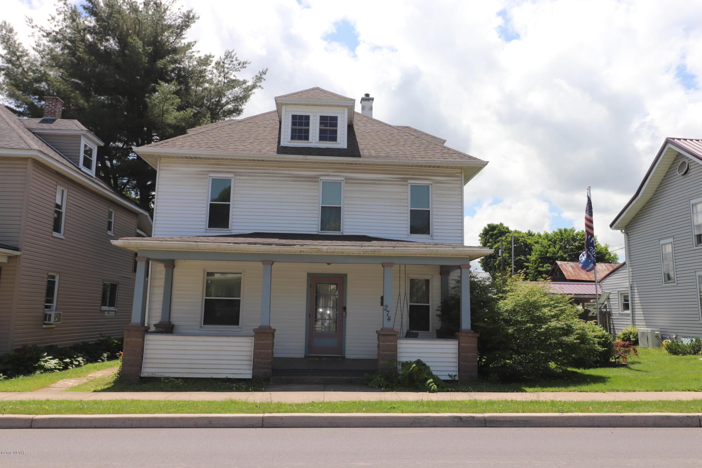 274 WATER STREET,Hughesville,PA 17737,3 Bedrooms Bedrooms,2 BathroomsBathrooms,Residential,WATER,WB-87610