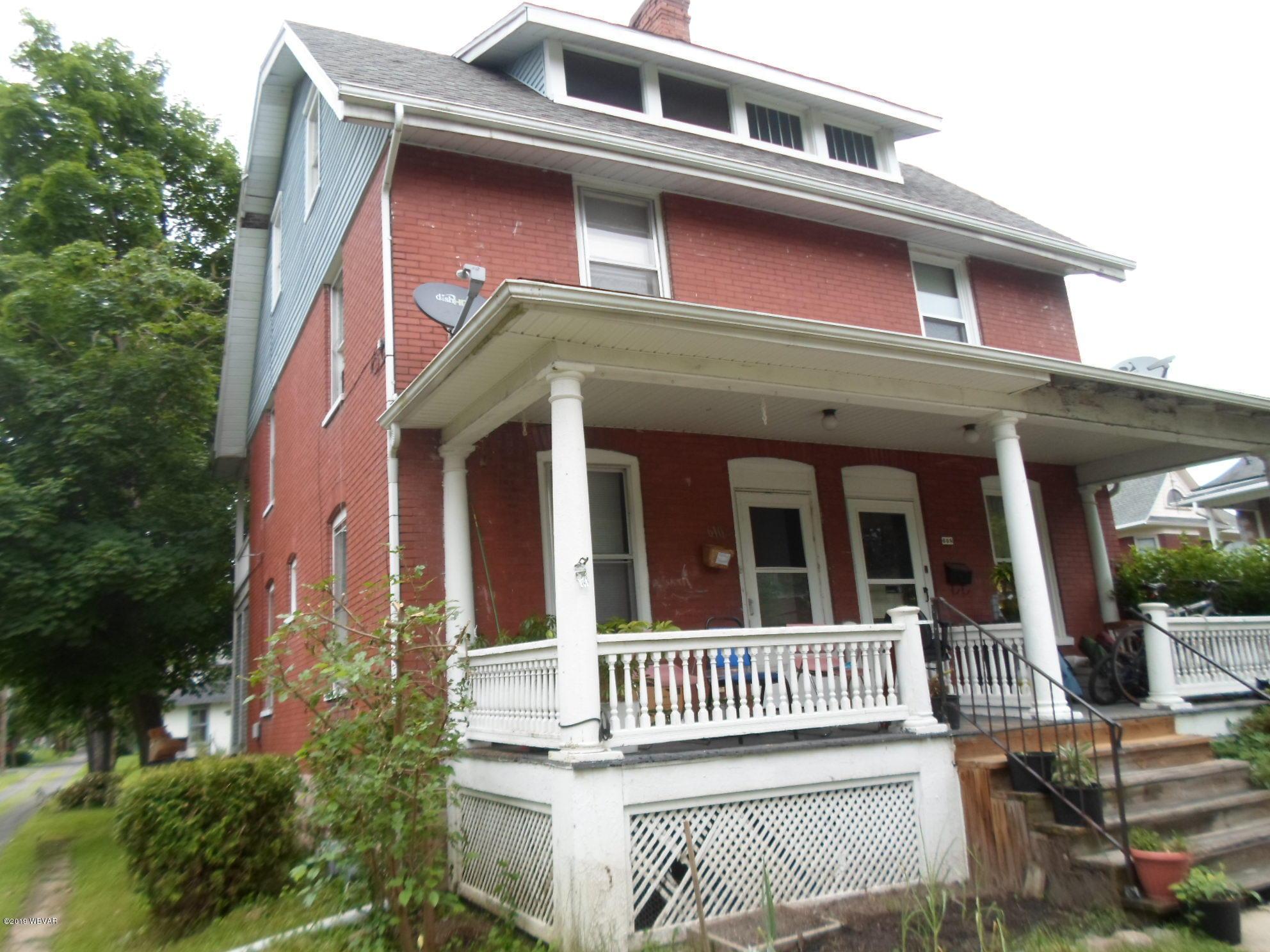 610 GLENWOOD AVENUE,Williamsport,PA 17701,4 Bedrooms Bedrooms,1 BathroomBathrooms,Residential,GLENWOOD,WB-87629
