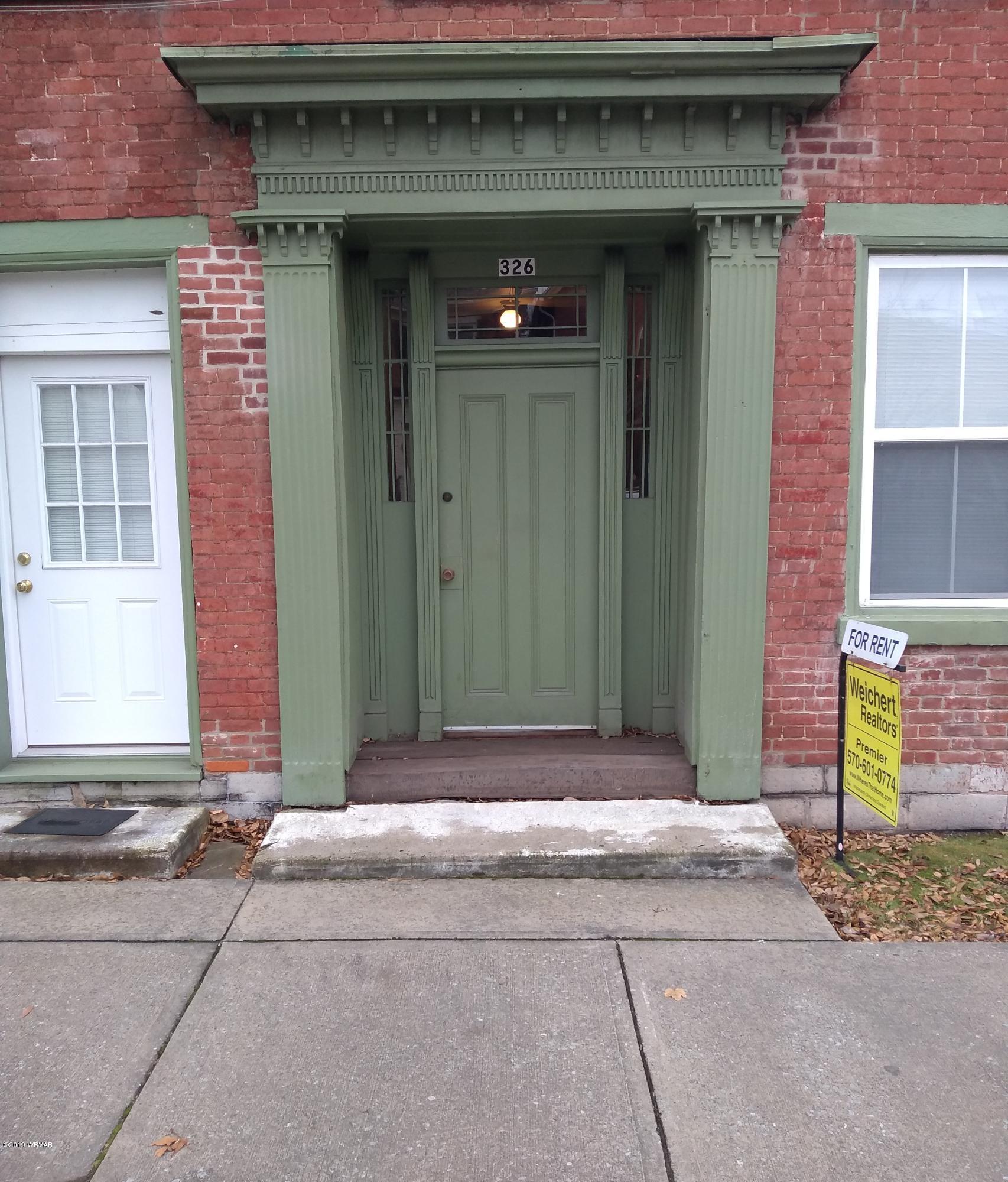 326 BROAD STREET,Montoursville,PA 17754,1 Bedroom Bedrooms,1 BathroomBathrooms,Resid-lease/rental,BROAD,WB-88003