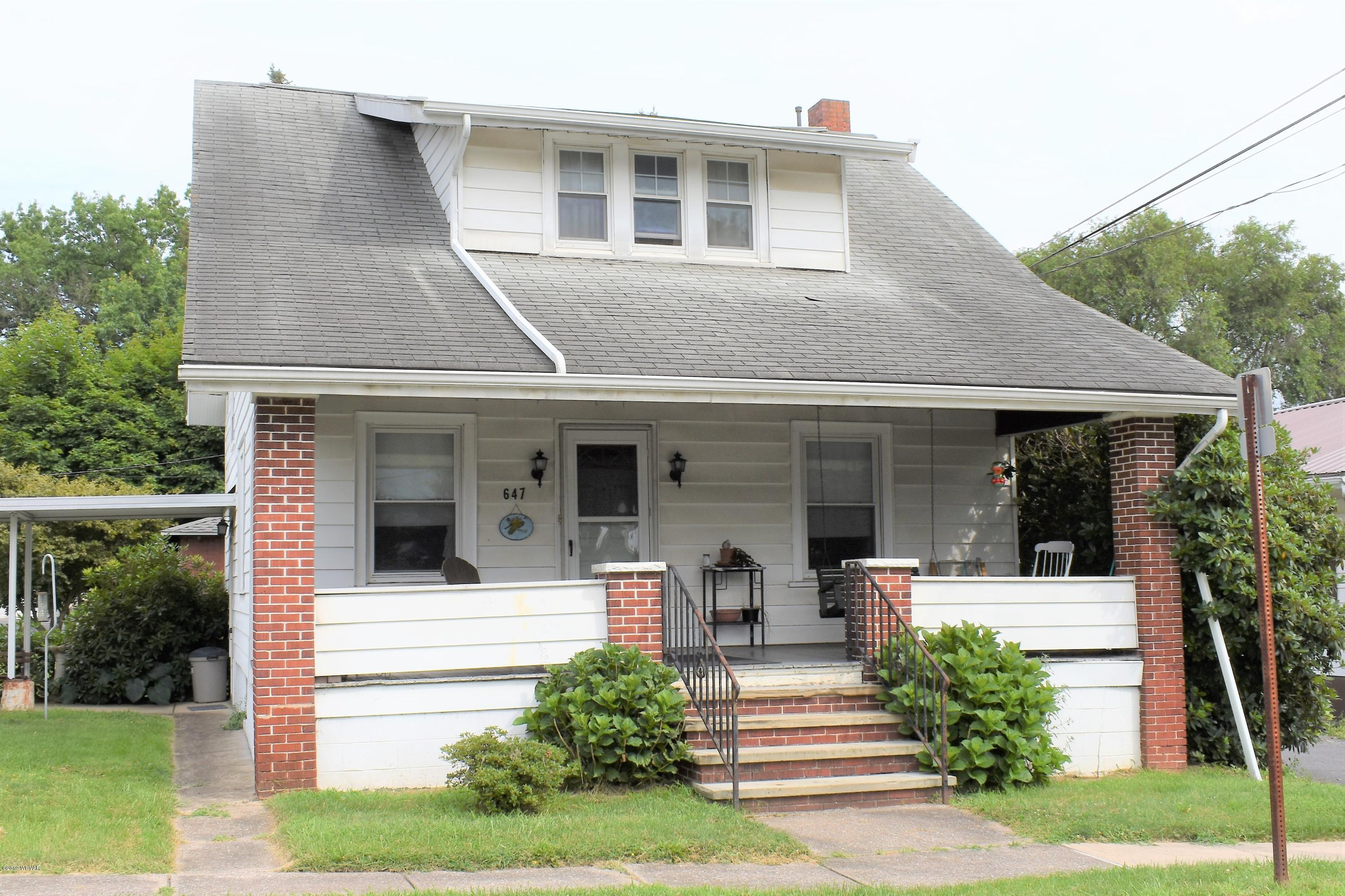 647 BALD EAGLE STREET, Lock Haven, PA 17745, 2 Bedrooms Bedrooms, ,2 BathroomsBathrooms,Residential,For sale,BALD EAGLE,WB-88107