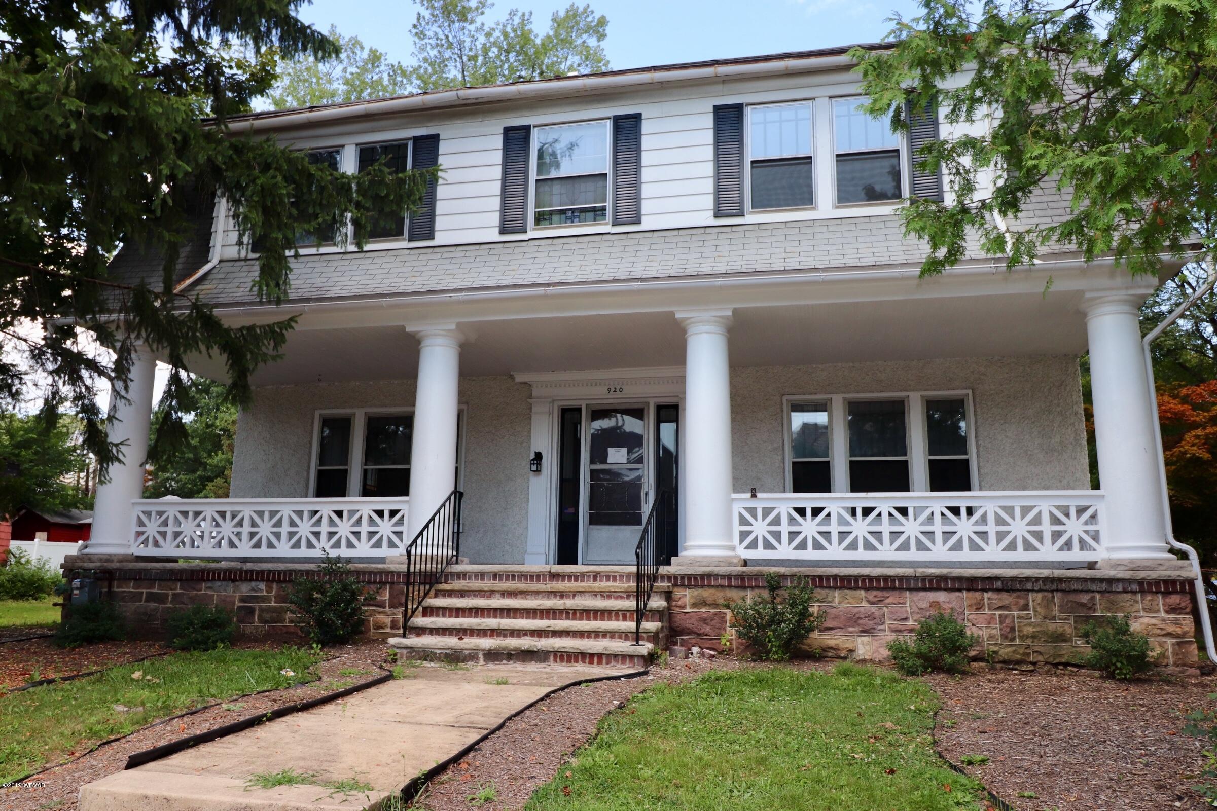 920 HIGH STREET,Williamsport,PA 17701,4 Bedrooms Bedrooms,3 BathroomsBathrooms,Residential,HIGH,WB-88211