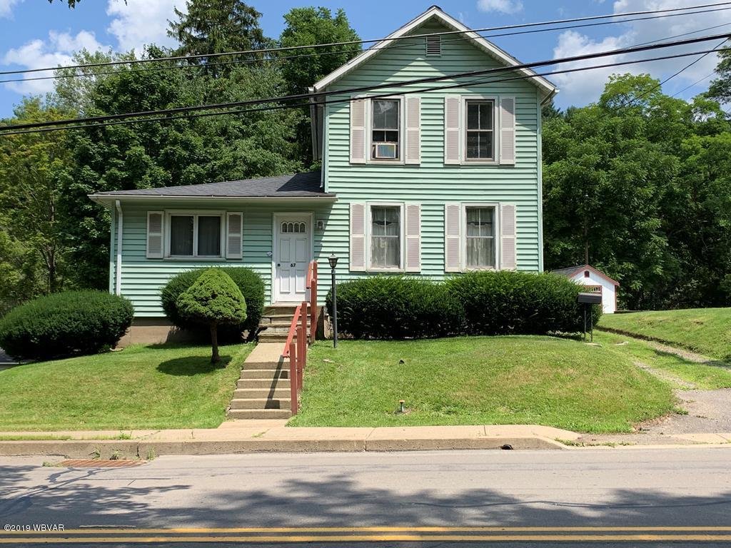 67 CENTRAL AVENUE,Wellsboro,PA 16901,2 Bedrooms Bedrooms,2 BathroomsBathrooms,Residential,CENTRAL,WB-88688