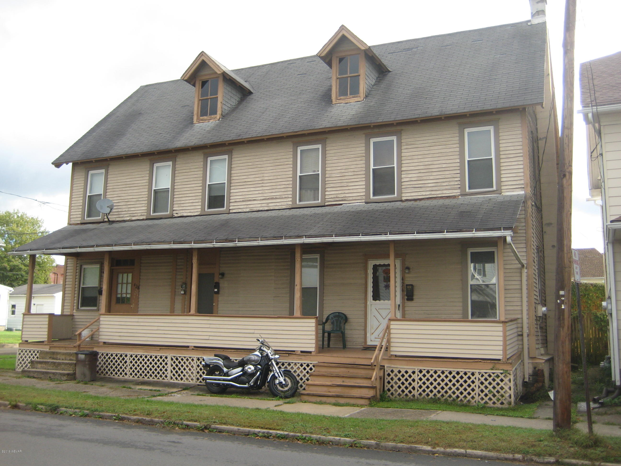 426-428 CEMETERY STREET, Williamsport, PA 17701, ,Multi-units,For sale,CEMETERY,WB-88777