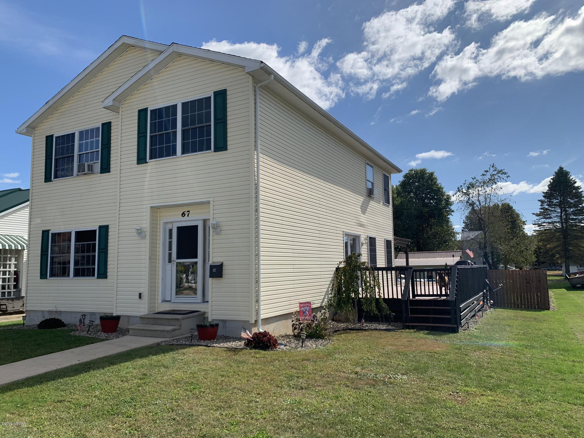 67 THIRD STREET,Hughesville,PA 17737,3 Bedrooms Bedrooms,2 BathroomsBathrooms,Residential,THIRD,WB-88846