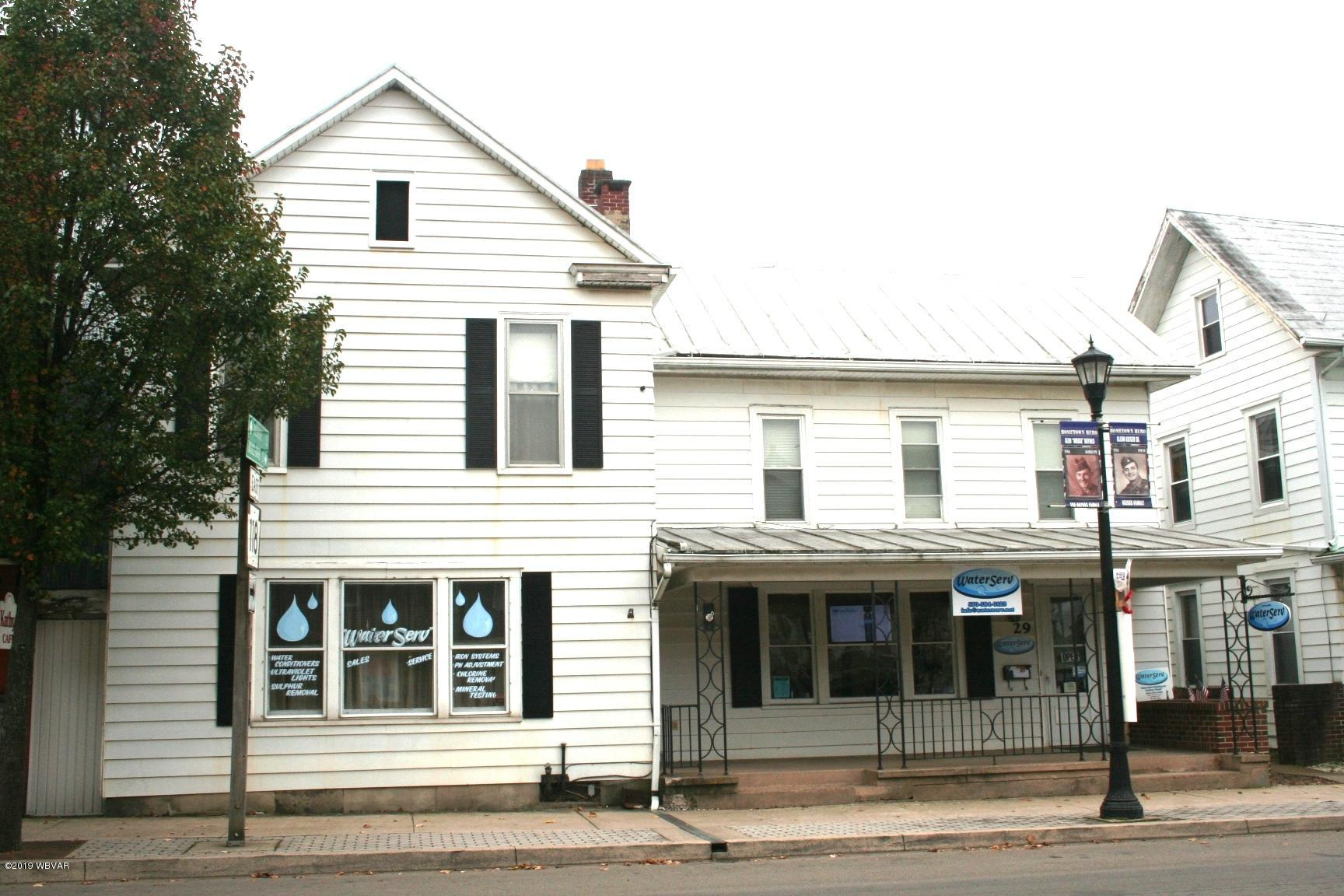 27-29 MAIN STREET,Hughesville,PA 17737,4 BathroomsBathrooms,Commercial sales,MAIN,WB-88958