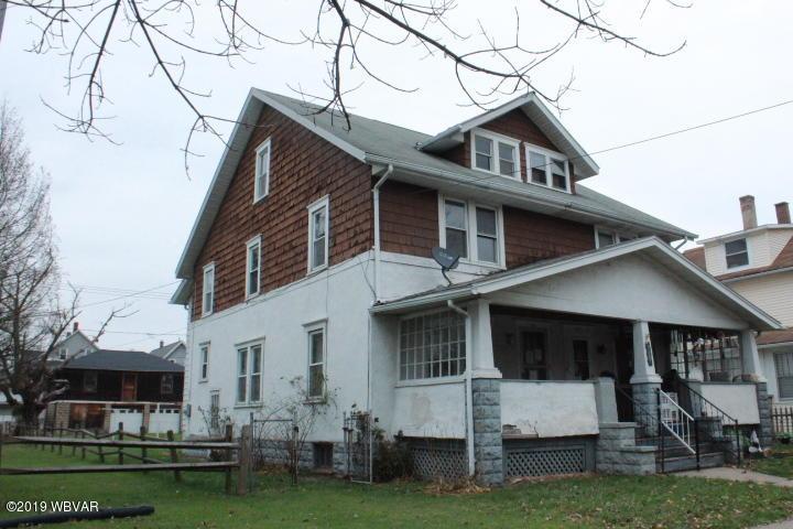 820 MEMORIAL AVENUE,Williamsport,PA 17701,3 Bedrooms Bedrooms,1 BathroomBathrooms,Residential,MEMORIAL,WB-89064