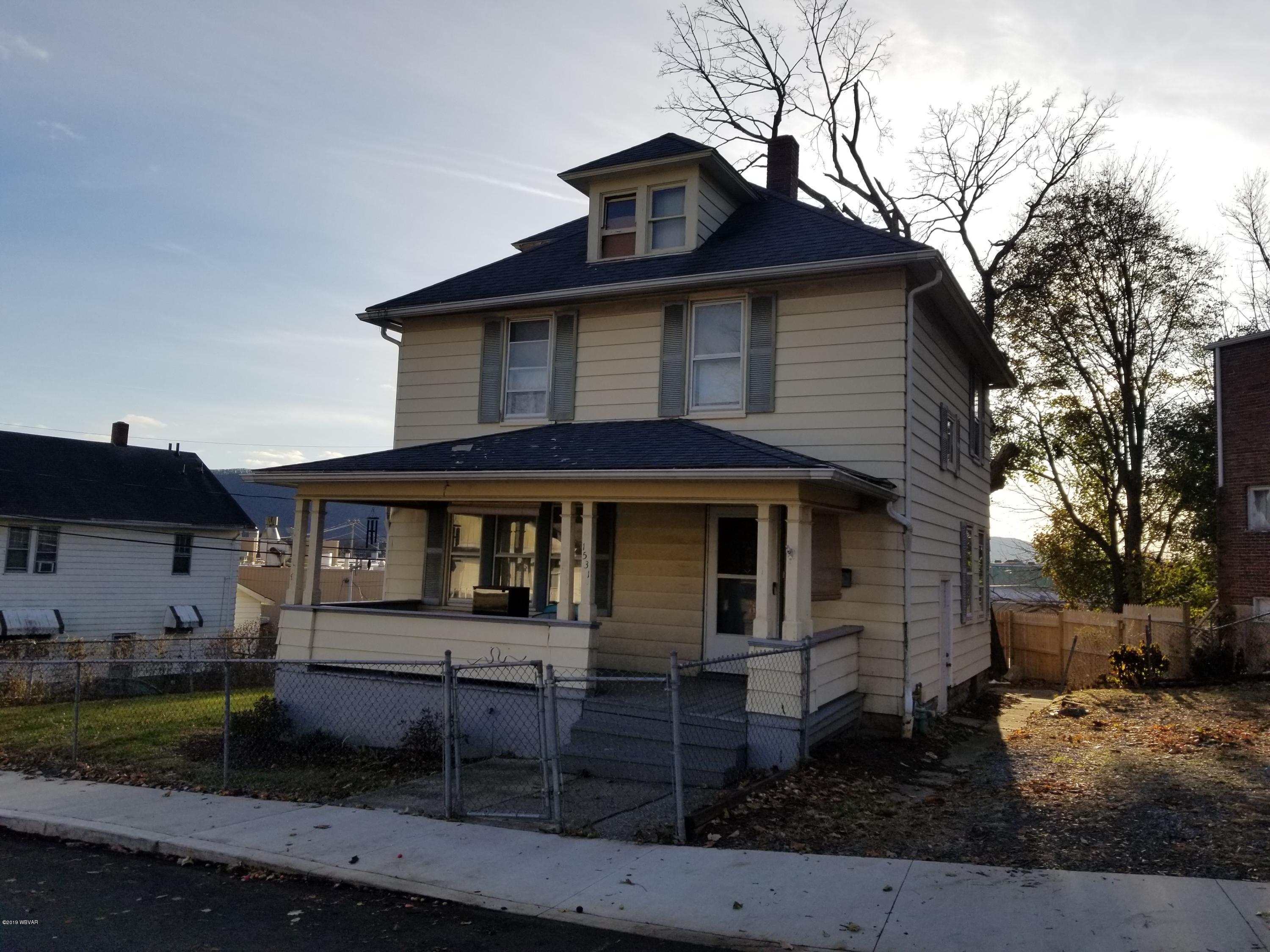 1531 PARK AVENUE, Williamsport, PA 17701, 3 Bedrooms Bedrooms, ,1 BathroomBathrooms,Residential,For sale,PARK,WB-89103