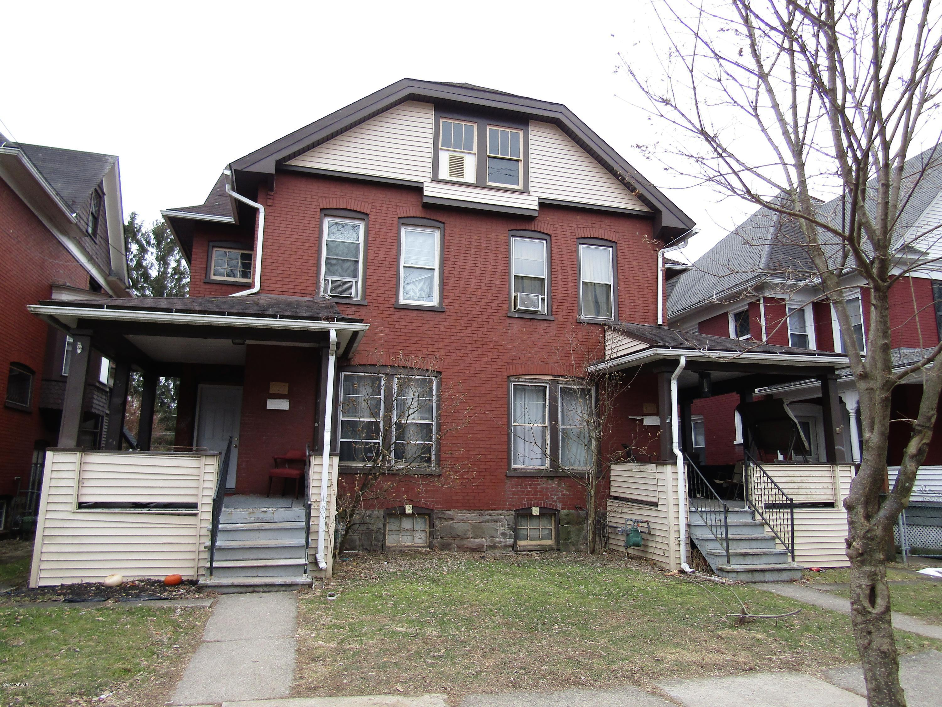 407 - 409 HAWTHORNE AVENUE, Williamsport, PA 17701, ,Multi-units,For sale,HAWTHORNE,WB-89501