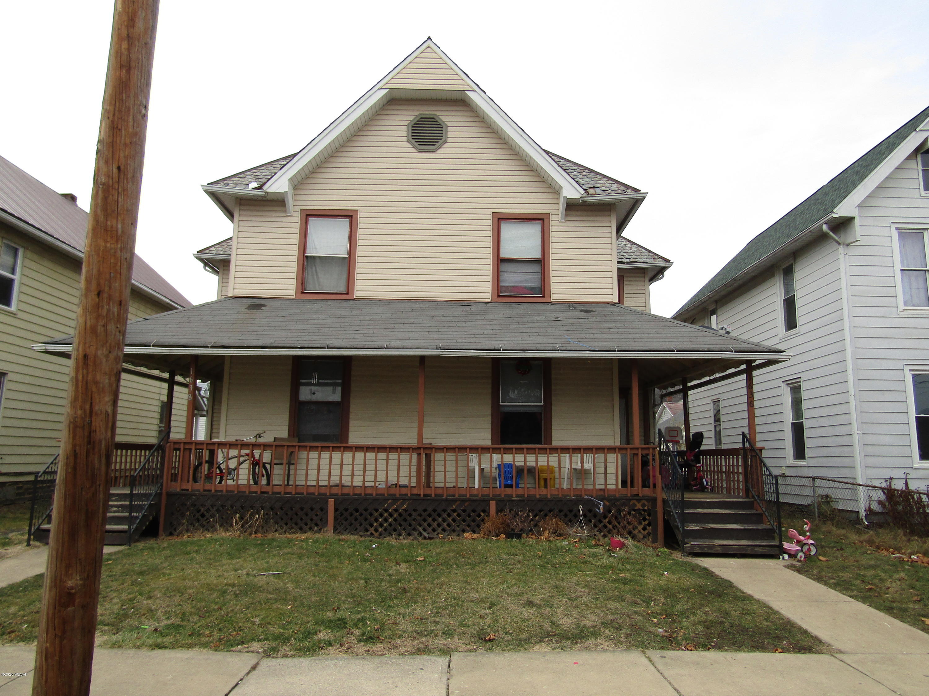 1636 -1638 MEMORIAL AVENUE, Williamsport, PA 17701, ,Multi-units,For sale,MEMORIAL,WB-89579