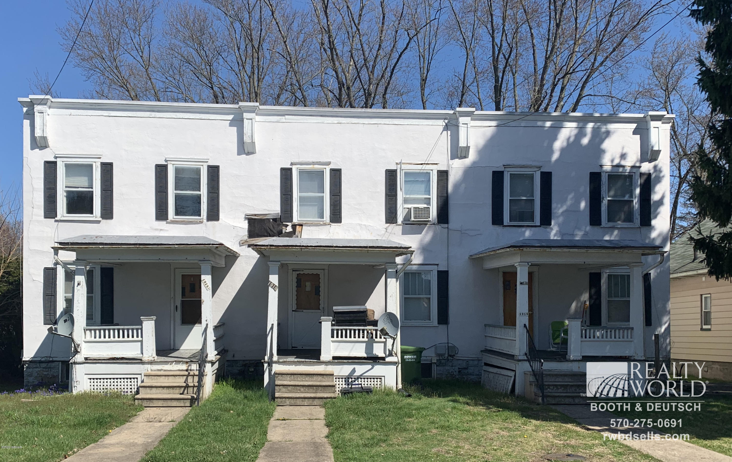 1916-1918 NEWBERRY STREET, Williamsport, PA 17701, ,Multi-units,For sale,NEWBERRY,WB-89969