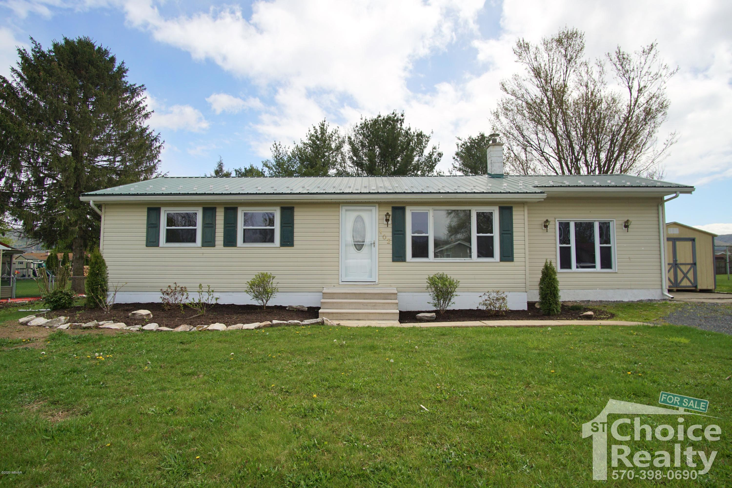 102 WAGNER ROAD, Jersey Shore, PA 17740, 3 Bedrooms Bedrooms, ,1.5 BathroomsBathrooms,Residential,For sale,WAGNER,WB-90019