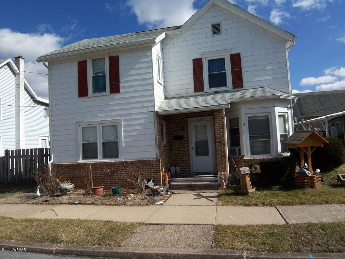 208 CALVERT STREET,Jersey Shore,PA 17740,3 Bedrooms Bedrooms,1 BathroomBathrooms,Residential,CALVERT,WB-90039