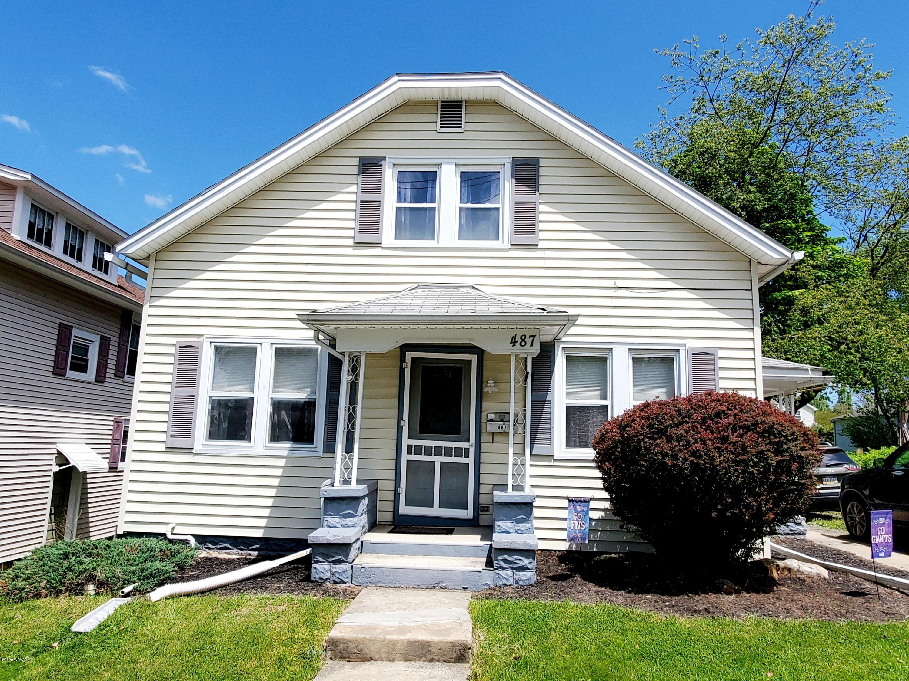 487 WINTHROP STREET,S. Williamsport,PA 17702,3 Bedrooms Bedrooms,2 BathroomsBathrooms,Residential,WINTHROP,WB-90143