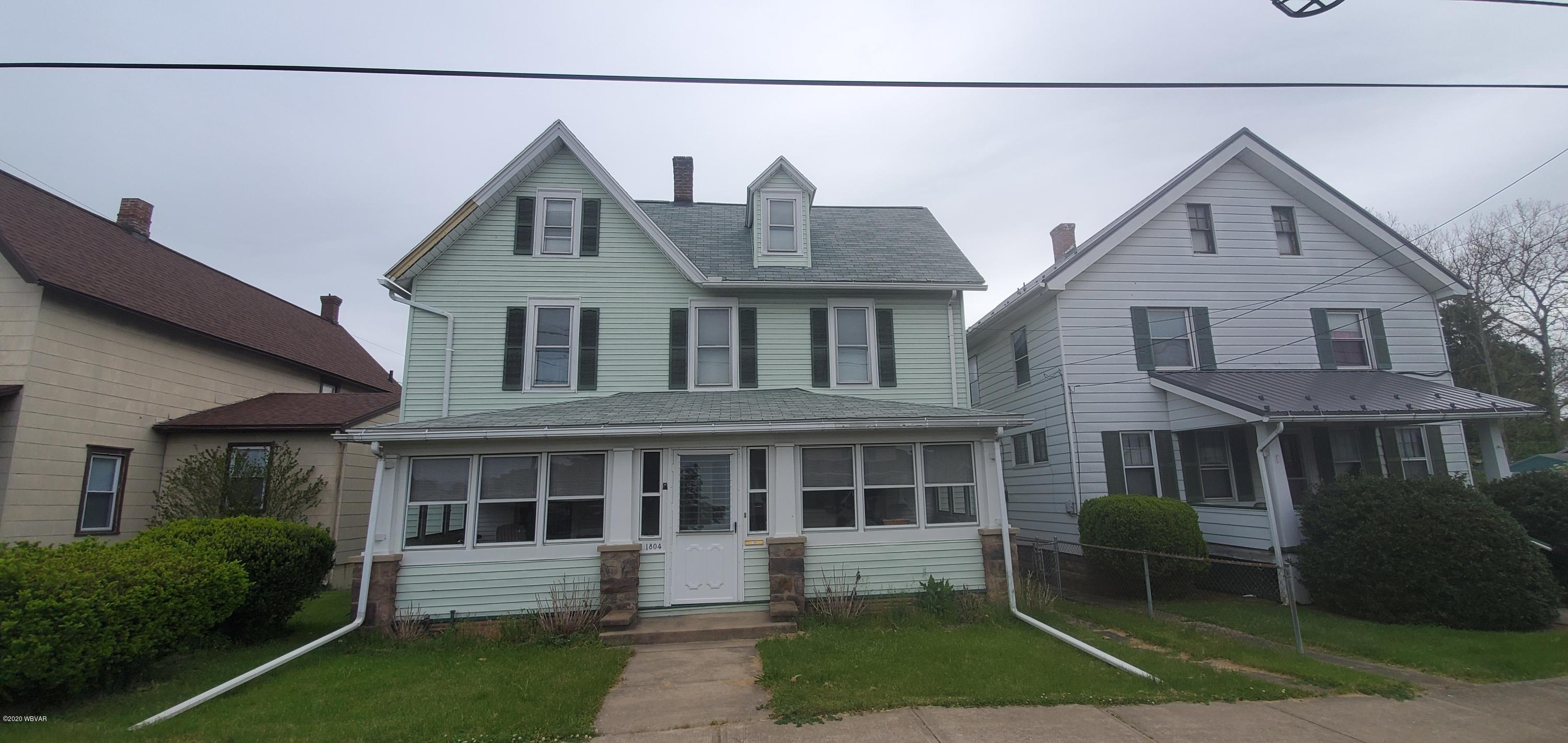 1804 MEMORIAL AVENUE,Williamsport,PA 17701,4 Bedrooms Bedrooms,1 BathroomBathrooms,Residential,MEMORIAL,WB-90147