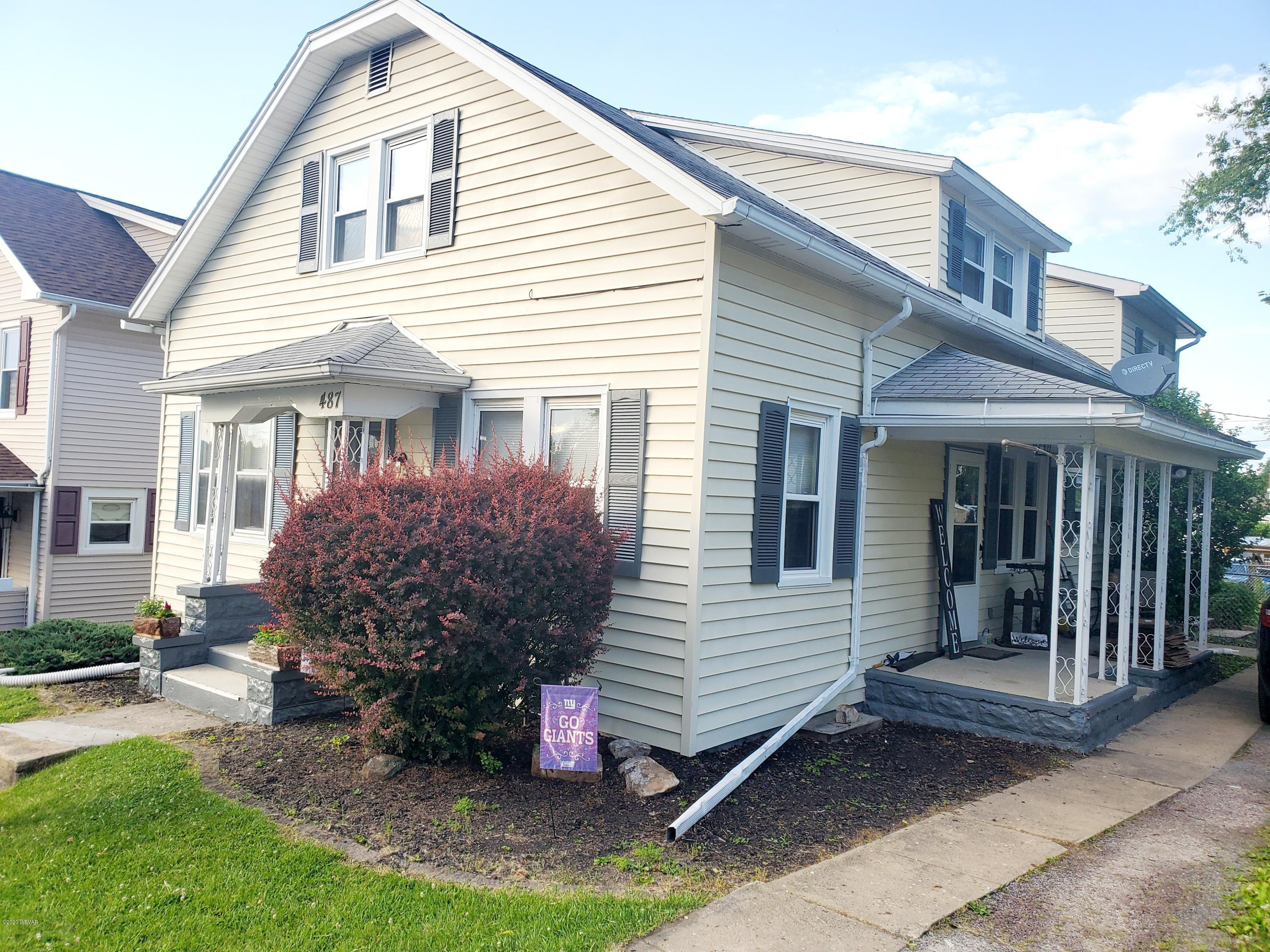 487 WINTHROP STREET, S. Williamsport, PA 17702, 3 Bedrooms Bedrooms, ,2 BathroomsBathrooms,Residential,For sale,WINTHROP,WB-90143