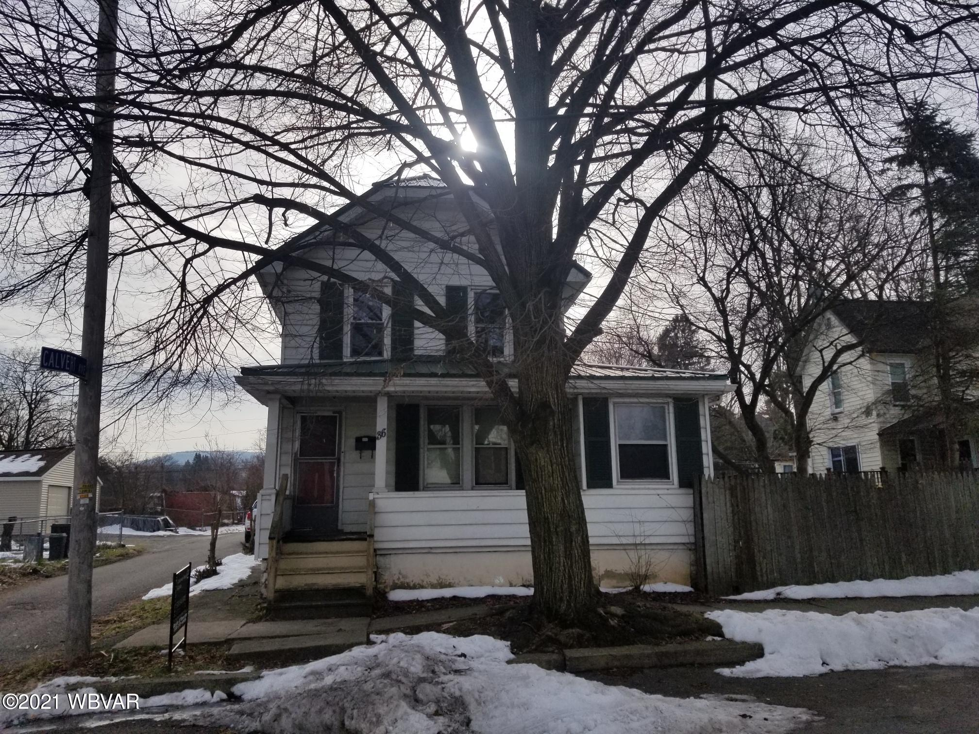 36 ELDRED STREET, Williamsport, PA 17701, 3 Bedrooms Bedrooms, ,2 BathroomsBathrooms,Residential,For sale,ELDRED,WB-91739
