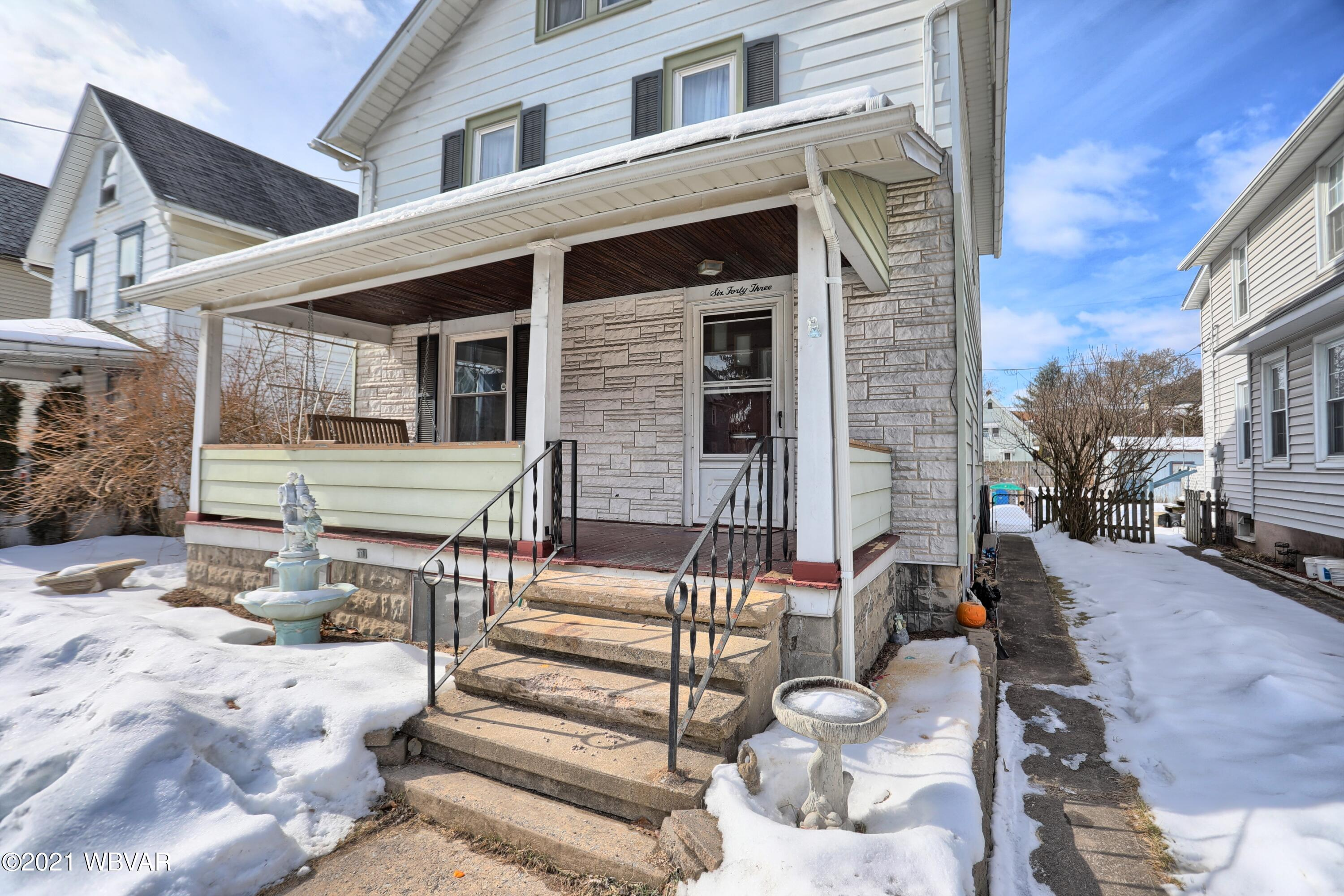 643 3RD AVENUE, Williamsport, PA 17701, 3 Bedrooms Bedrooms, ,2 BathroomsBathrooms,Residential,For sale,3RD,WB-91907