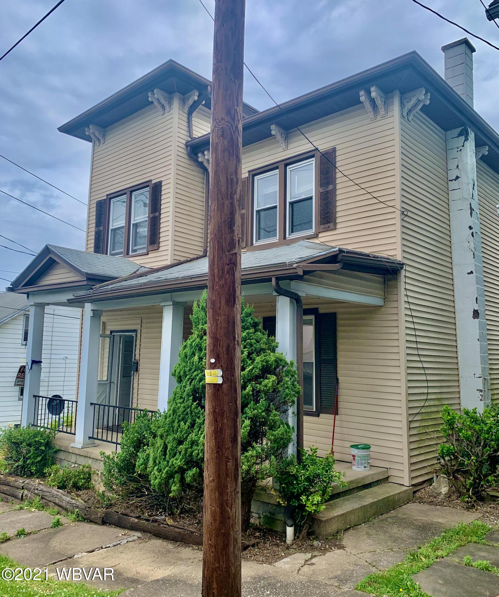319 MEADOW STREET, S. Williamsport, PA 17702, 2 Bedrooms Bedrooms, ,1 BathroomBathrooms,Resid-lease/rental,For sale,MEADOW,WB-92749