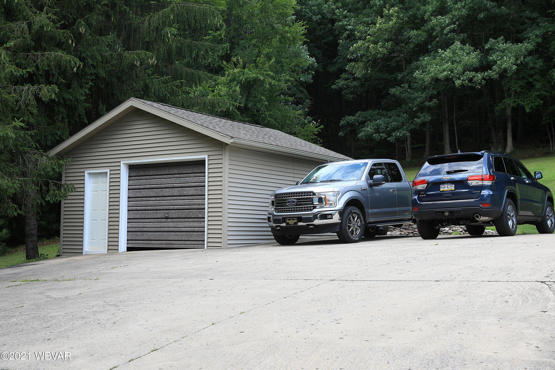 Detached one car  plus garage