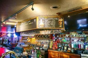 Menu Board Above Bar