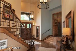 Foyer-Steps to Master Stairs to Guest Su