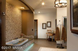 His Master Bath with Jetted Soaking Tub
