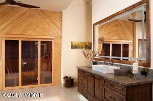 Sauna in Her Master Bath