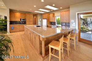 Spacious Gourmet Kitchen with Solid Ma