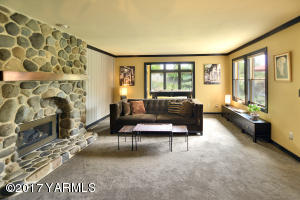 4a  Family Room with Charming Fireplace