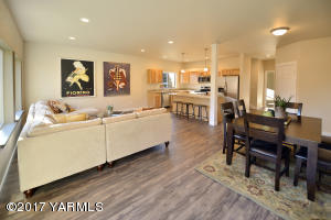 2 Open Concept Living and Dining