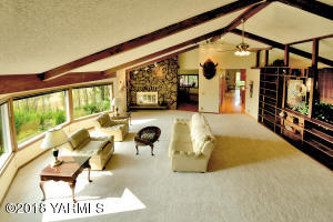 Expansive Living Room with Vaulted Ceili