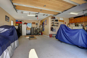 Oversized garage with lots of storage
