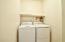 Washer & dryer in downstairs laundry plus storage closet