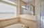 Master garden tub & shower