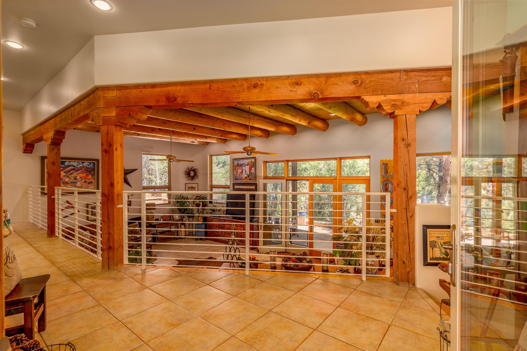 Open Foyer Overlooking Living