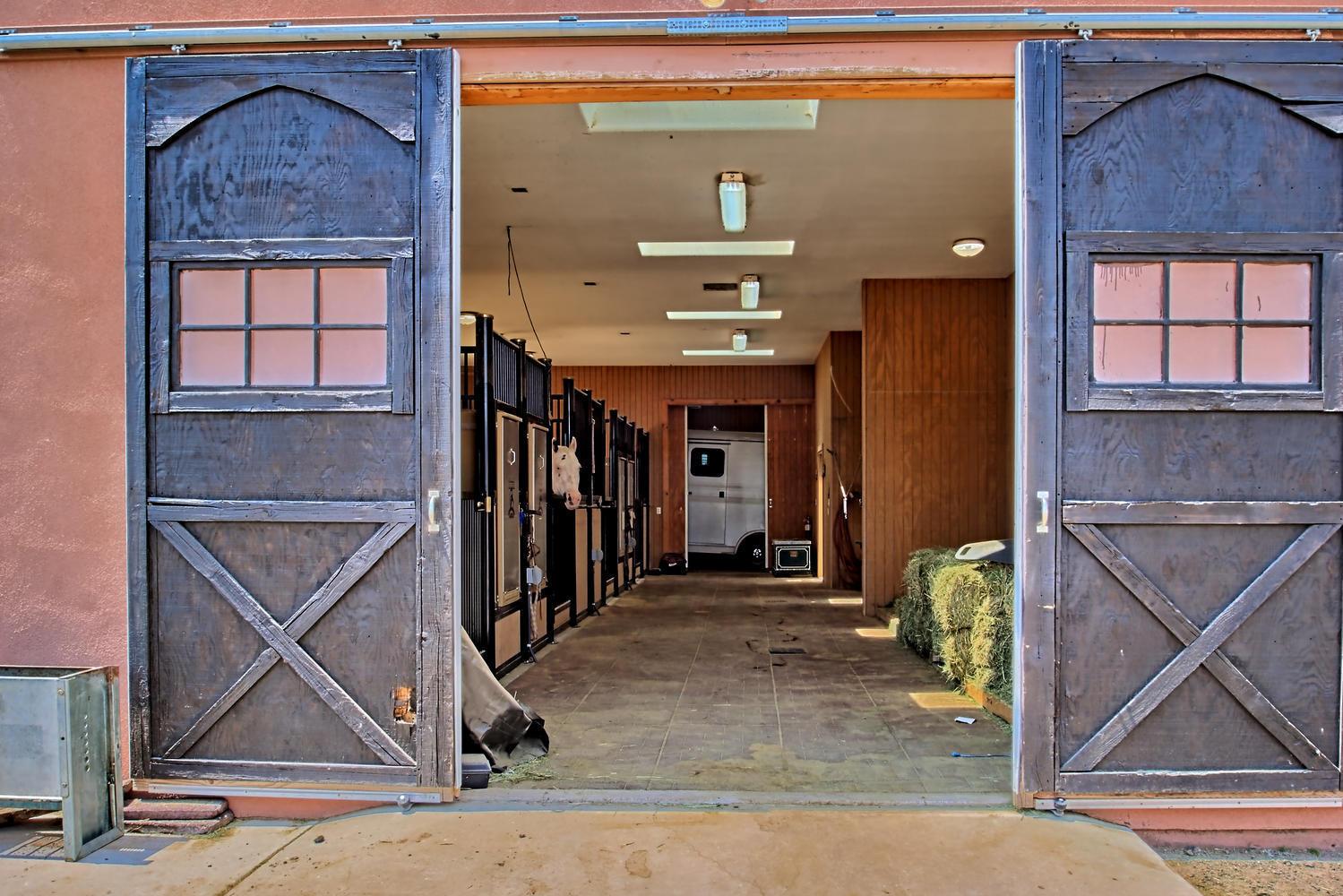 barn inside 1  5 Real Pl Sandia Park NM