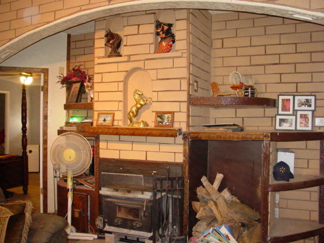 Archway over Wood Stove