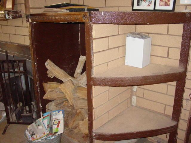 Wood Storage Cubby