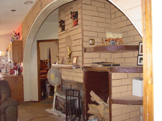 Archway over the Wood Stove