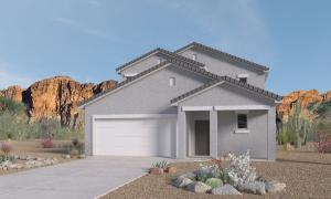 Artist rendering - actual stucco colors will be Desert Tumbleweed and roof color brown