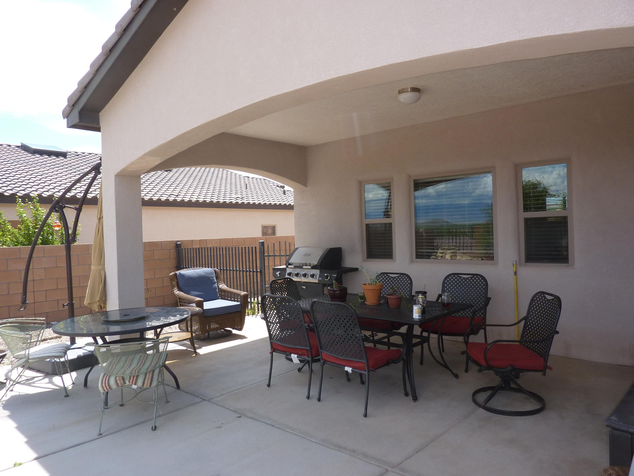 Covered Patio Faces East