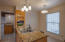 Kitchen leading to breakfast nook