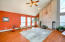 CLEAN LINES GREATROOM WITH VAULTED CEILING LOTS OF LIGHT