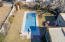 Lovely backyard with garden, pool and lots of plantings