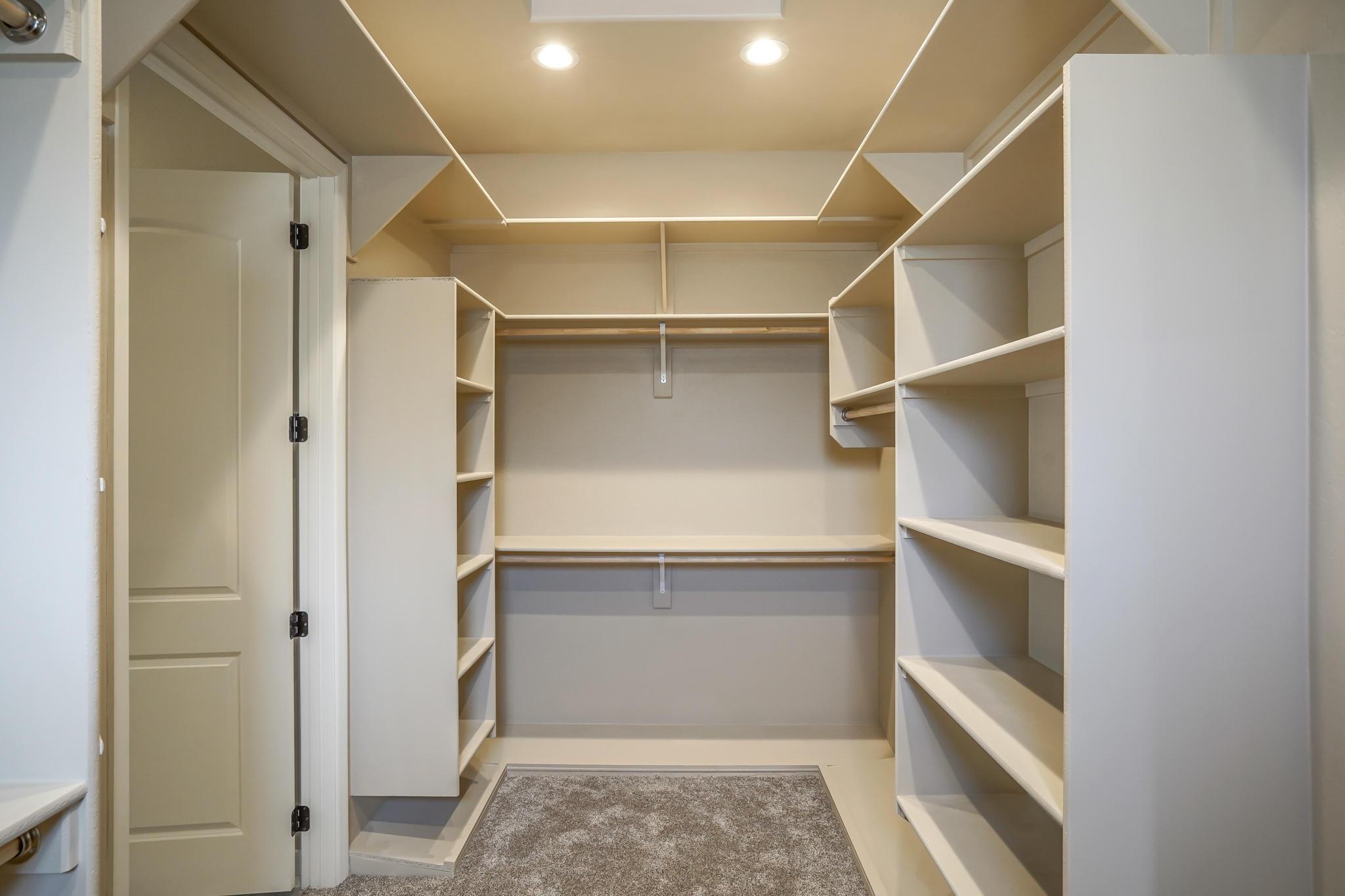 Master Closet with Custom Shelving