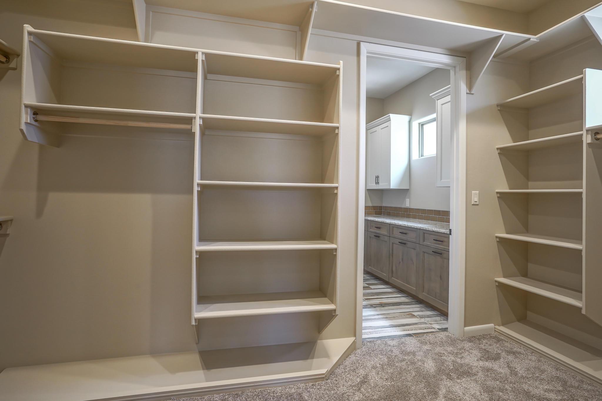 Master Closet w/Access to Laundry Room