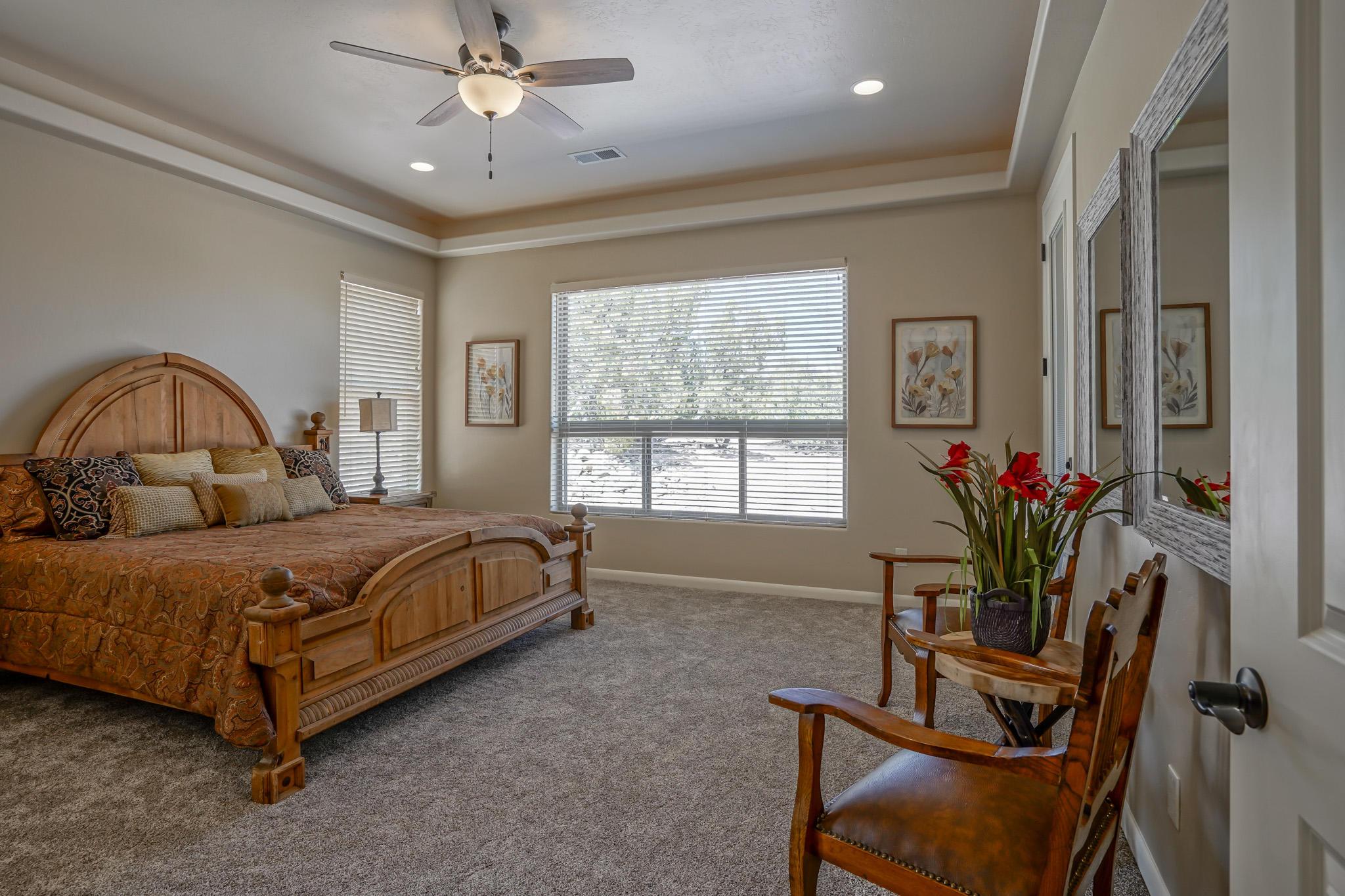 Master Bedroom with Custom Lighting